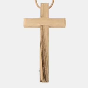 Olivenholzkreuz mit Band religiöse geschenke