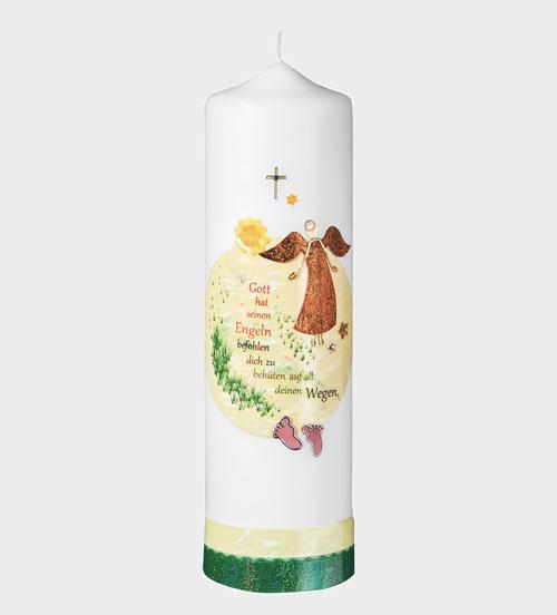 Christliche Kerze - Gott hat seinen Engeln befohlen, dich zu behüten